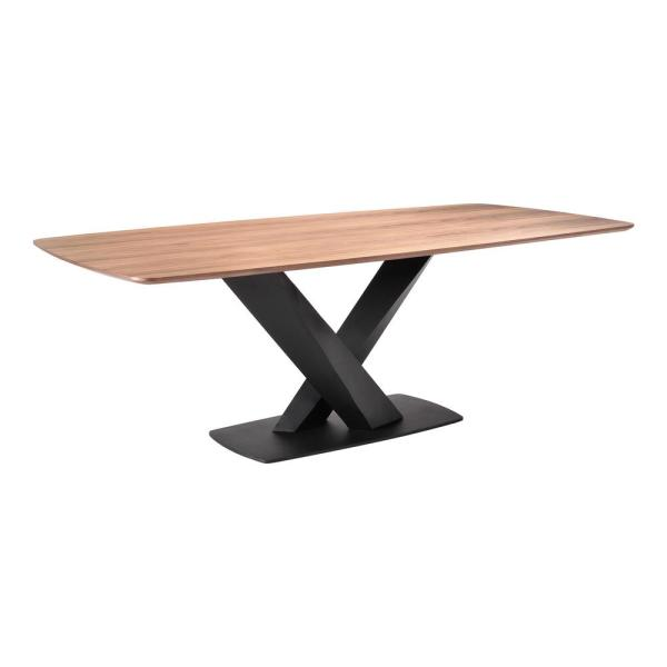 Everett Contemporary Dining Table Walnut - Armen Living
