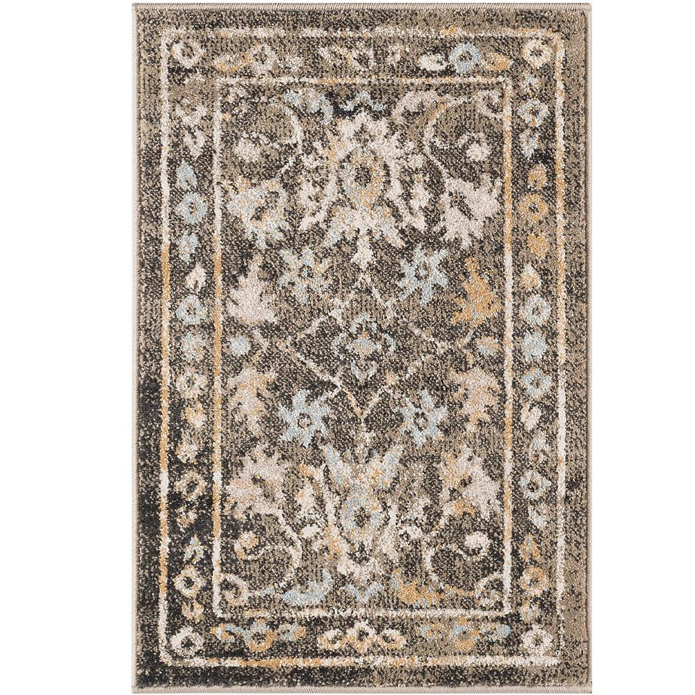 tayse rugs peyton taupe 2 ft. x 3 ft. accent rug-ptn1316 2x3 - the