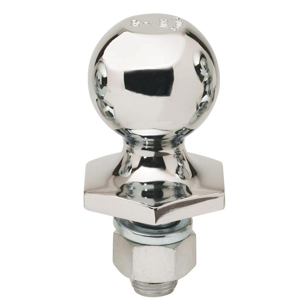 2 Ball Hitch >> Reese Towpower 2 In Dia 1 In Shank Diameter 6000 Lbs Capacity Stainless Steel Interlock Hitch Ball