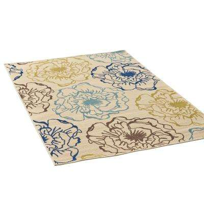 Adley Multi-Colored 5 ft. x 8 ft. Floral Indoor/Outdoor Area Rug