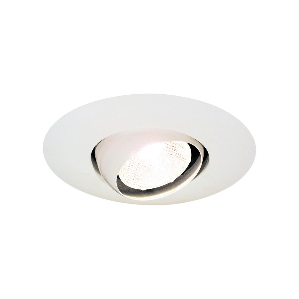 5 in. Matte White Eyeball Recessed Trim