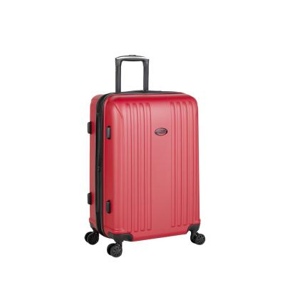 Moraga 26 in. Red 8-Wheel Hard Side Spinner Luggage
