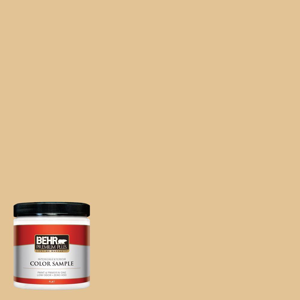 BEHR Premium Plus 8 oz. #310E-3 Ripe Wheat Interior/Exterior Paint Sample