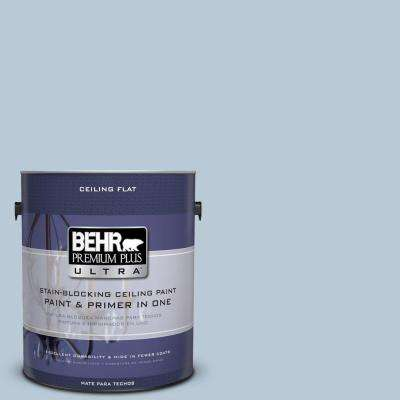1 gal. #PPU14-15 Ceiling Tinted to Denim Light Flat Interior Paint and Primer in One