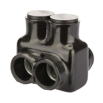 500 MCM - 4 AWG Insulated Tap Connector, Black