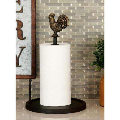 Classic Farmhouse Rooster Iron Tissue Holder