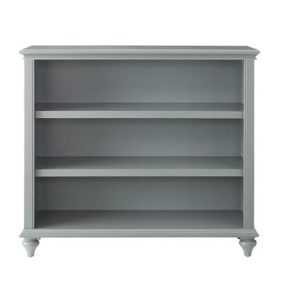 36 in. Distressed Gray Wood 3-shelf Accent Bookcase with Adjustable Shelves