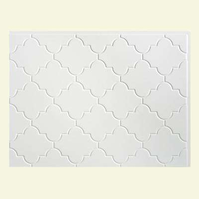 Monaco 24.25 in. x 18.25 in. Vinyl Backsplash in Gloss White