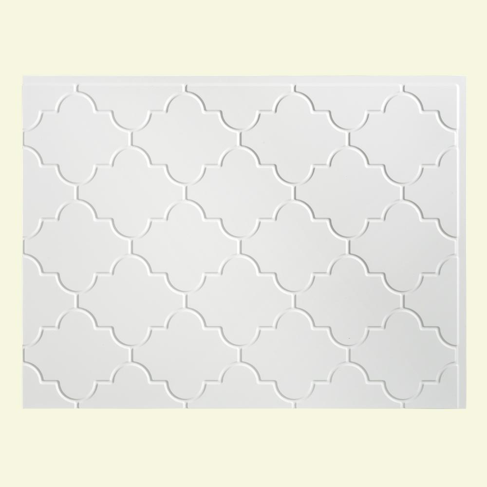 Fasade Monaco 24 25 In X 18 25 In Vinyl Backsplash In Gloss White