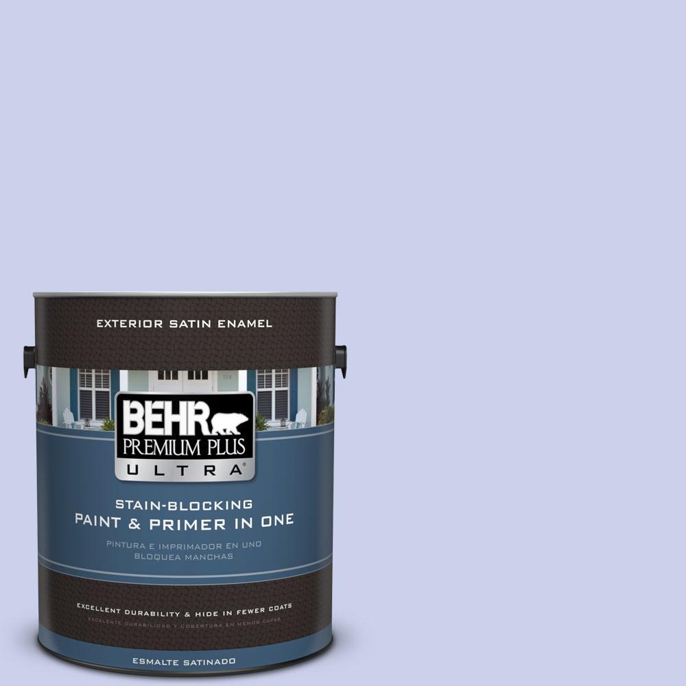 BEHR Premium Plus Ultra 1-gal. #600A-2 Lazy Sunday Satin Enamel Exterior Paint
