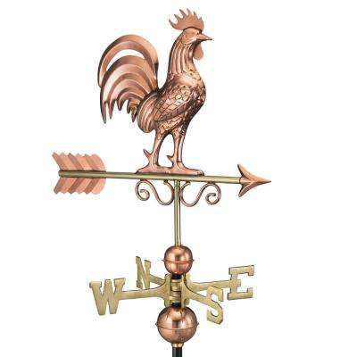 Bantam Rooster Weathervane - Pure Copper