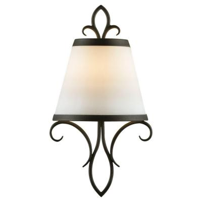 Peyton 1-Light Black Sconce