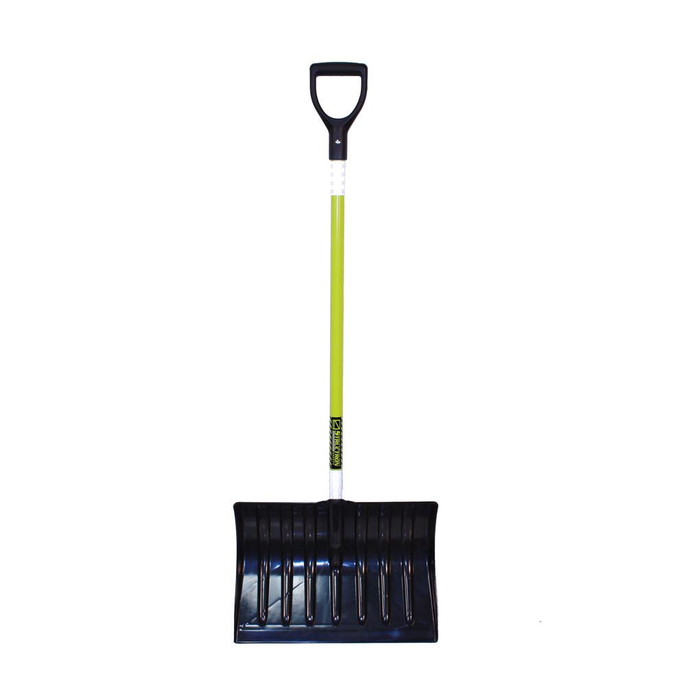 Structron 18 in. Poly/ABS Blade Snow Shovel with 43 in. Reflective