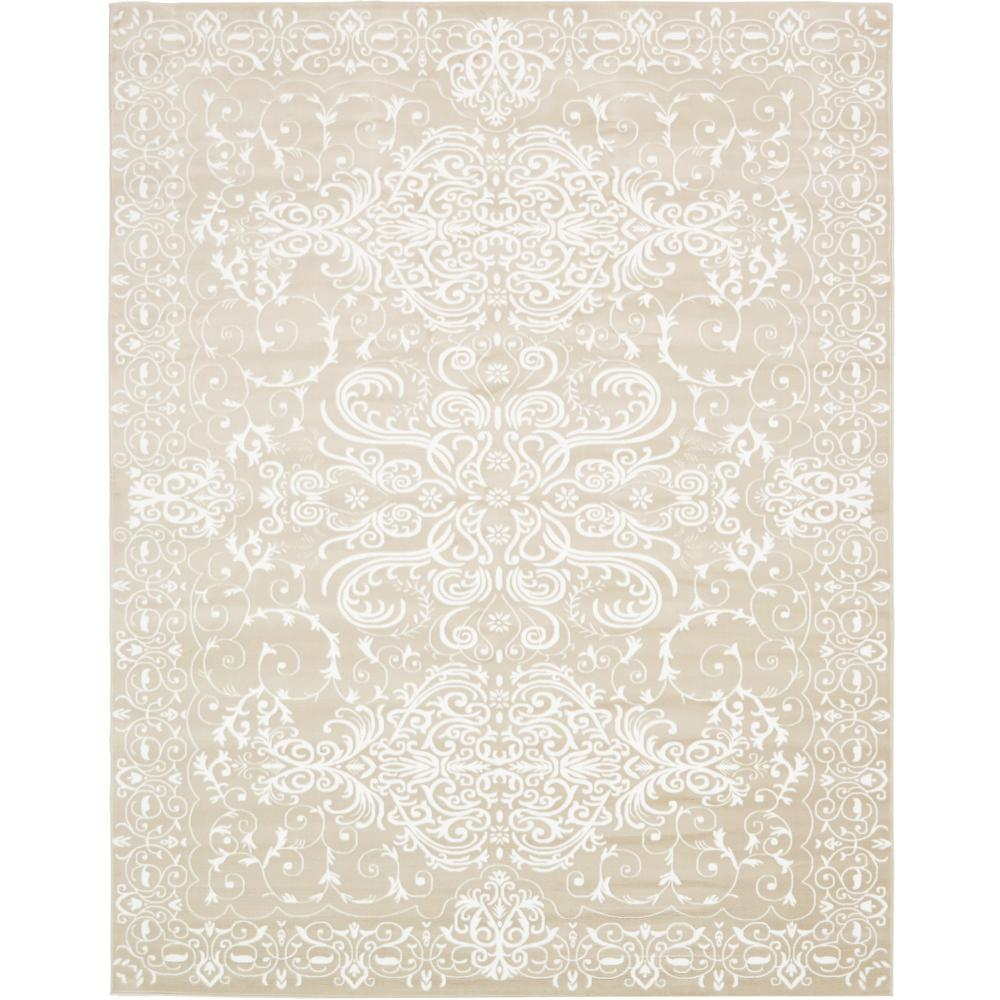 Unique Loom Himalaya Snow White 10 Ft X 13 Ft Area Rug