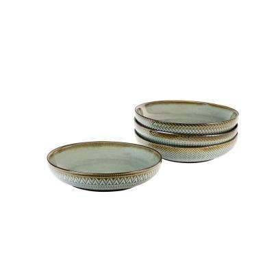 Glyph Grey Dinner Bowls (Set of 4)