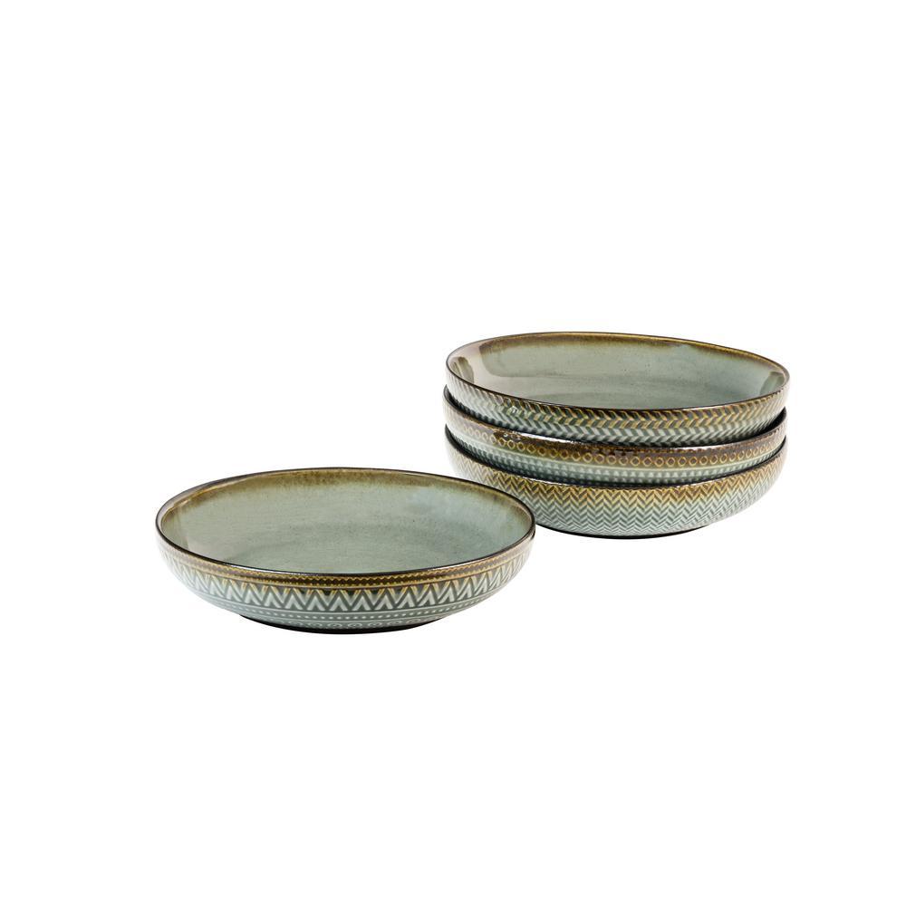Sango Glyph Grey Dinner Bowls (Set of 4)