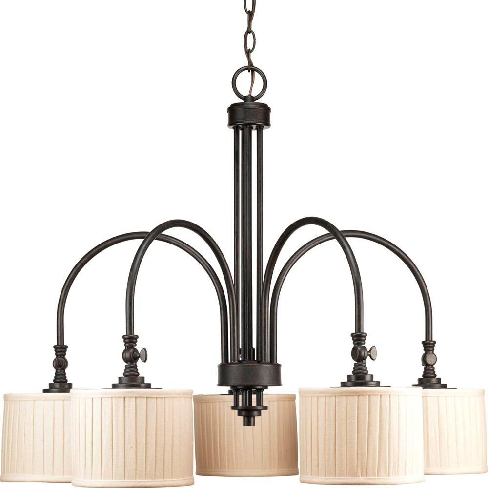 Progress Lighting Clayton Collection 5-Light Espresso Chandelier ...