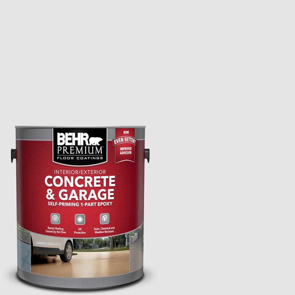 BEHR Premium 1 gal. #PFC-66 Ice White Self-Priming 1-Part Epoxy Satin Interior/Exterior Concrete and Garage Floor Paint