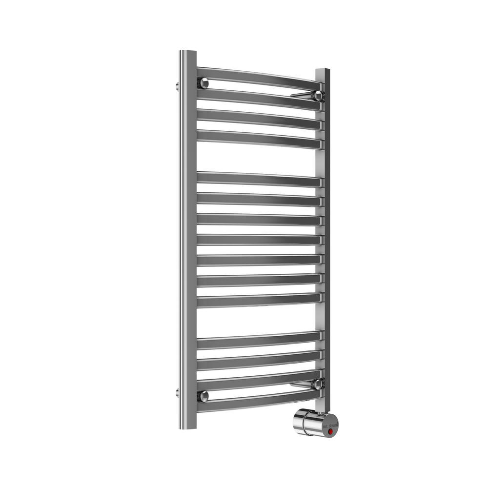 13-Bar Wall Mounted Electric Towel Warmer with Digital Timer in Polished
