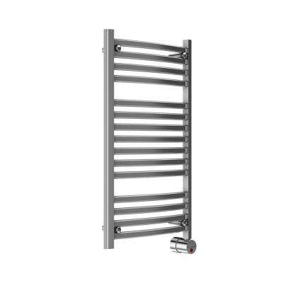 13-Bar Wall Mounted Electric Towel Warmer with Digital Timer in Polished Chrome