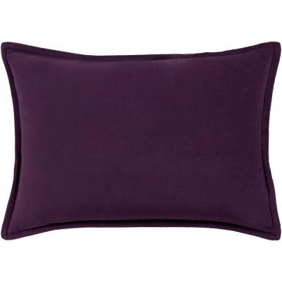 Velizh Purple Solid Polyester 19 in. x 19 in. Throw Pillow