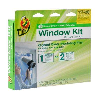 84 in. x 120 in. Crystal Clear XL Patio Window Kit Shrink Film