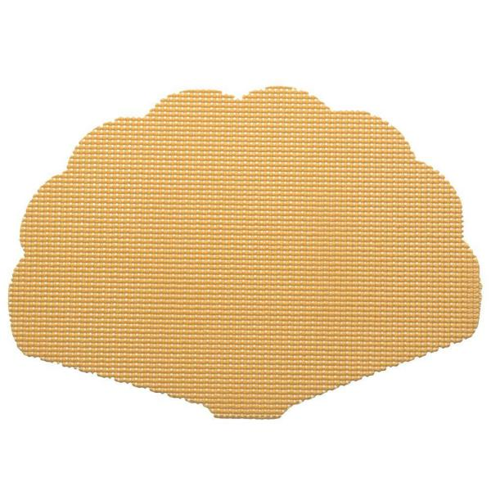 Kraftware Fishnet Shell Placemat in Camel (Set of 12) 38638