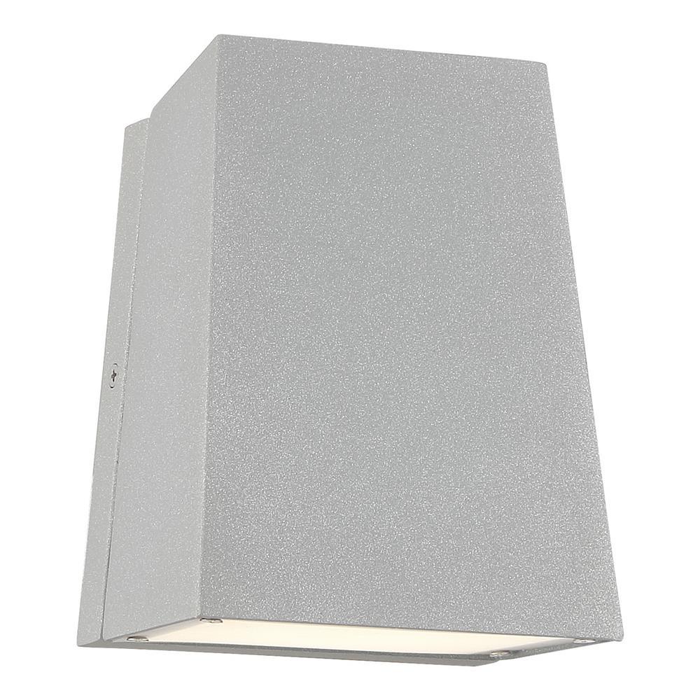 Edge Medium 1-Light Satin LED Outdoor Wall Mount Sconce