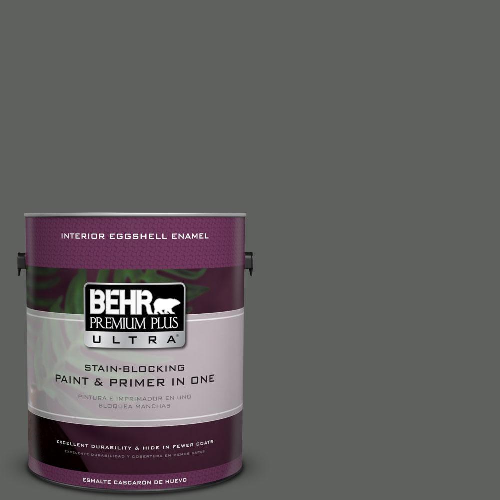 BEHR Premium Plus Ultra 1-gal. #N460-6 Hematite Eggshell Enamel Interior Paint