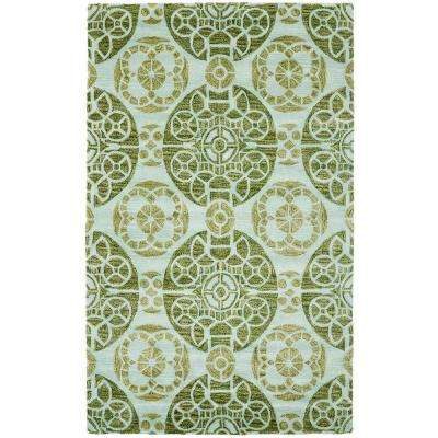 Wyndham Turquoise/Green 8 ft. x 10 ft. Area Rug