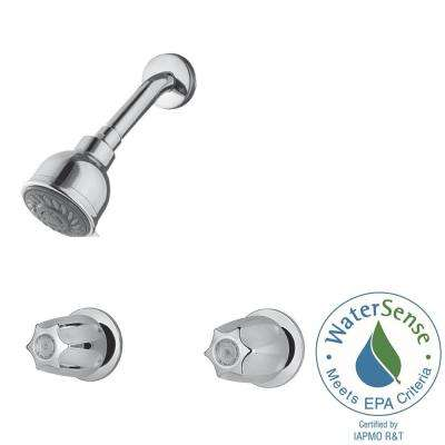 2-Handle 3-Spray Tub and Shower Faucet in Polished Chrome (Valve Included)
