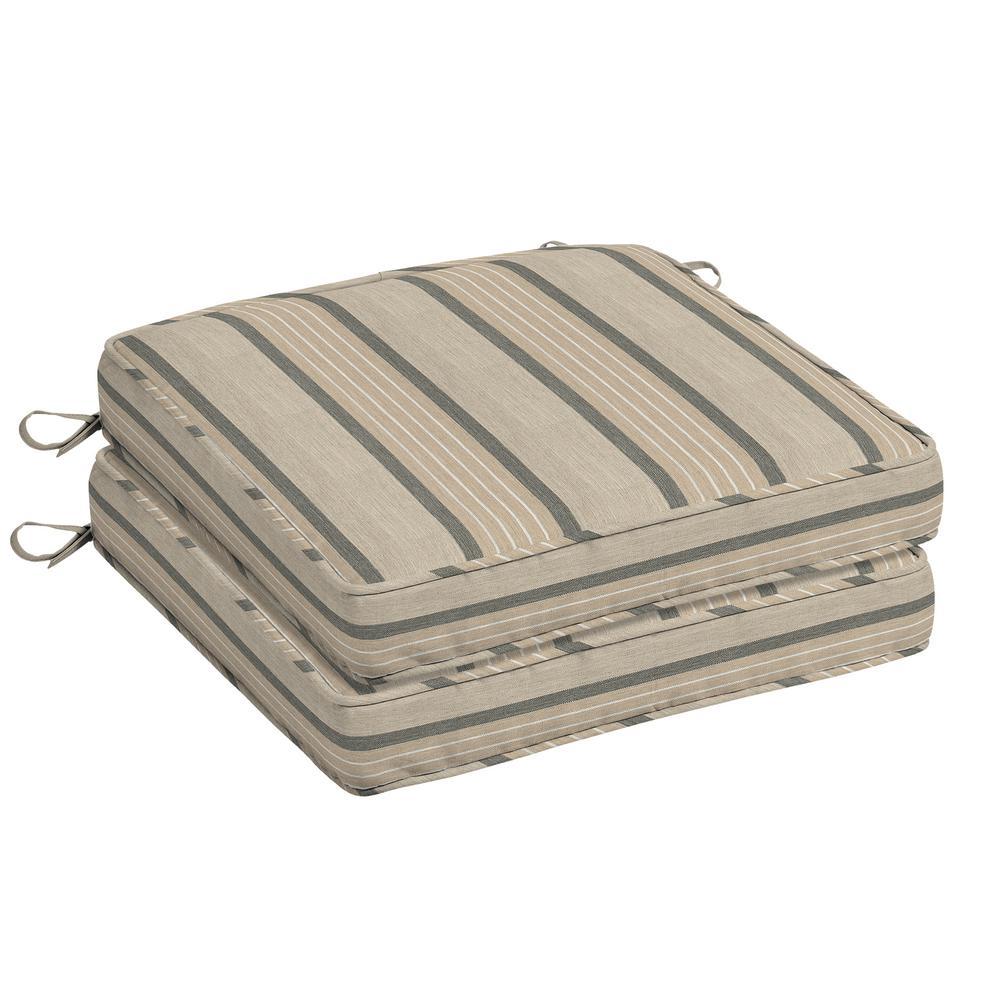 Oak Cliff 20 x 20 Sunbrella Cove Pebble Outdoor Chair Cushion (2-Pack)