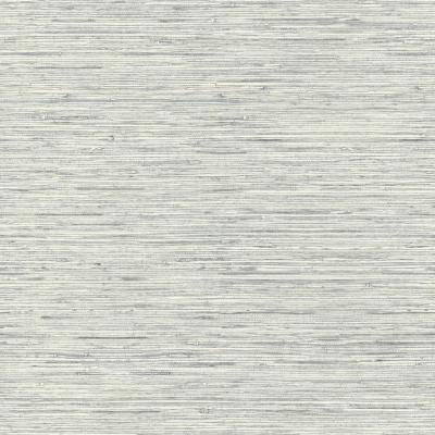 Grasscloth Blue Vinyl Peelable Wallpaper (Covers 28.18 sq. ft.)