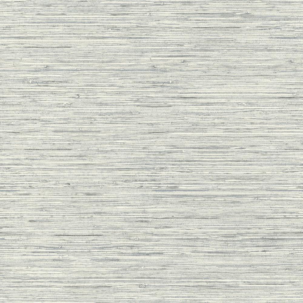 28.18 sq. ft. Grasscloth Blue Peel and Stick Wallpaper