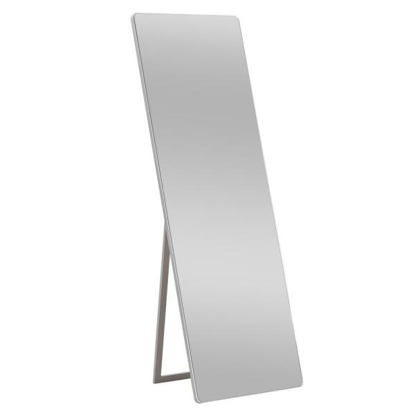 Oversized White Wood Shelves & Drawers Classic Mirror (64 in. H X 21 in. W)
