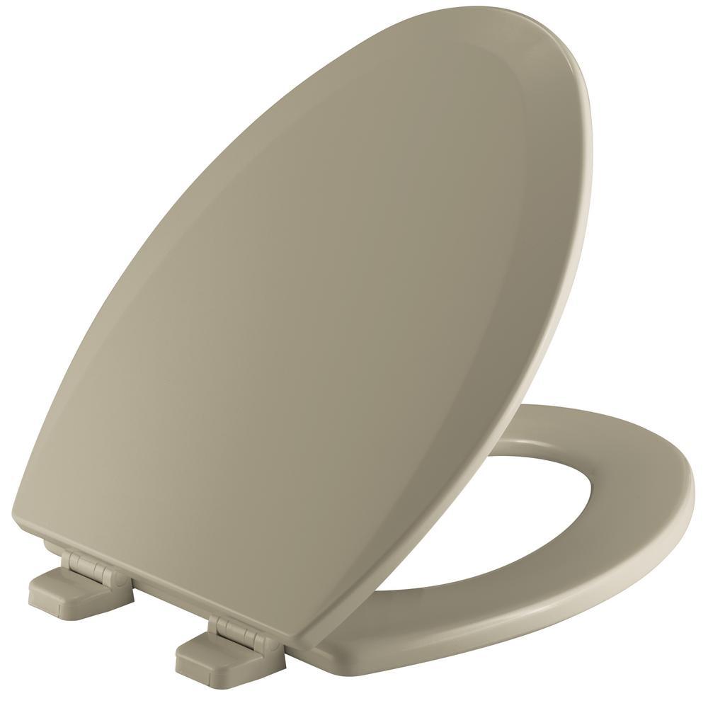Astounding Bemis Elongated Closed Front Toilet Seat In Bone Creativecarmelina Interior Chair Design Creativecarmelinacom