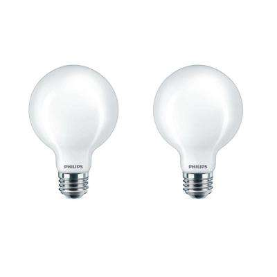 40 Watt Equivalent G25 Dimmable Led Globe Daylight Frosted 2 Pack