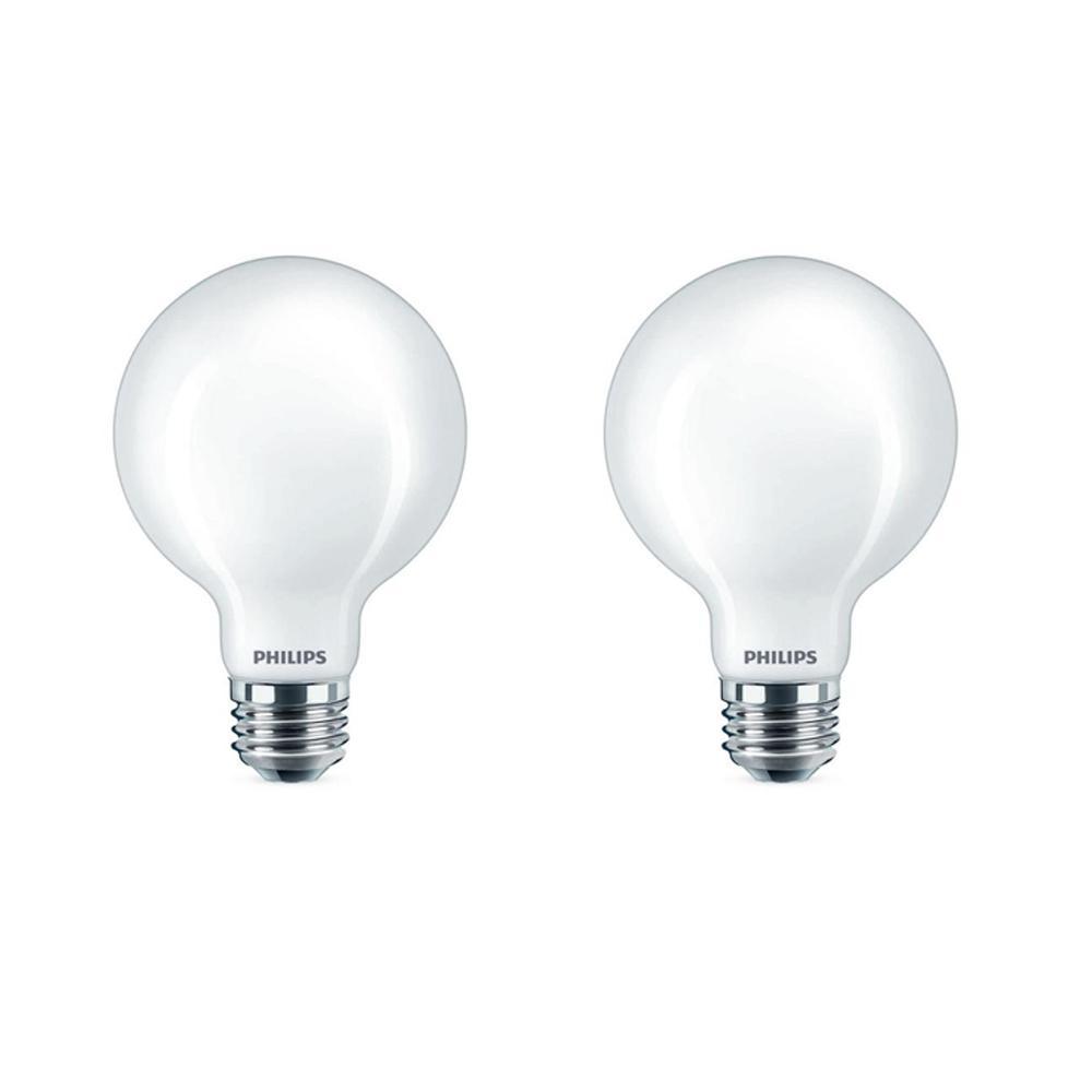 40-Watt Equivalent Daylight G25 Dimmable LED Light Bulb (2-Pack)