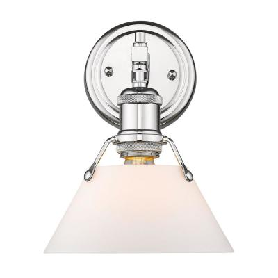 Orwell 1-Light Chrome with Opal Glass Shade Bath Vanity Light