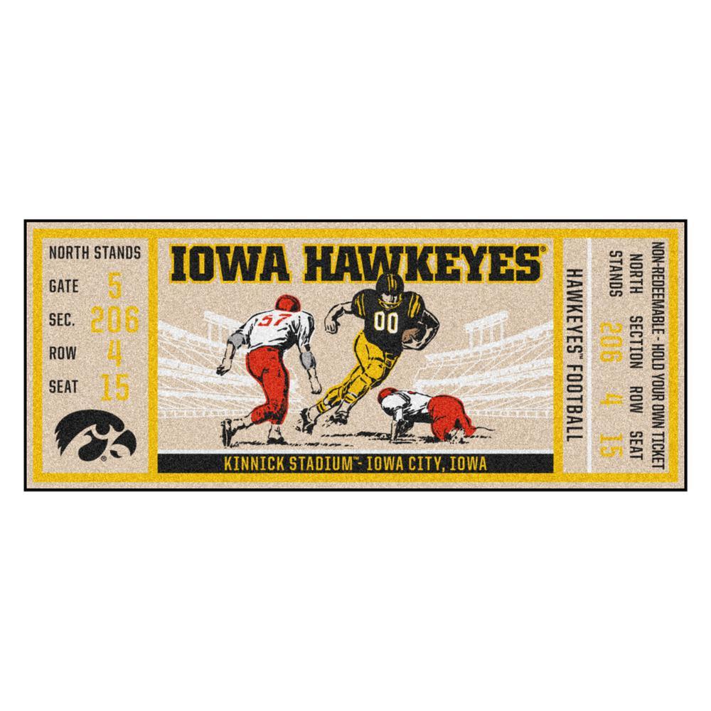 FANMATS NCAA University of Iowa Hawkeyes Nylon Face Football Field Runner