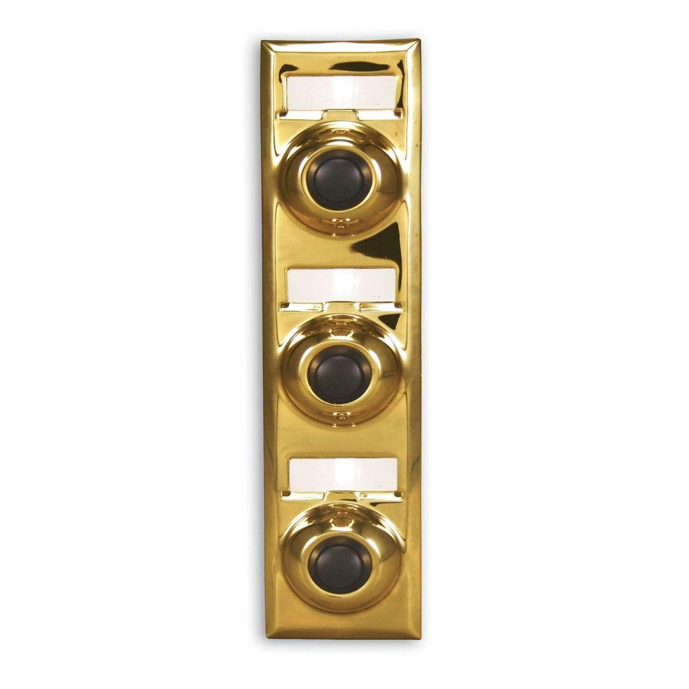 Multi Family Push Button, Polished Brass