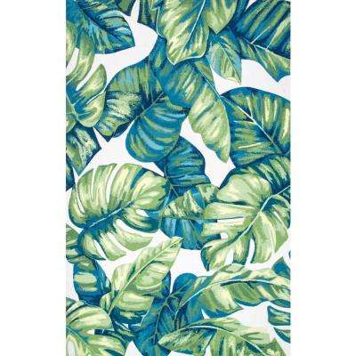 Contemporary Floral Lisa Multi Indoor/Outdoor 8 ft. x 10 ft. Area Rug