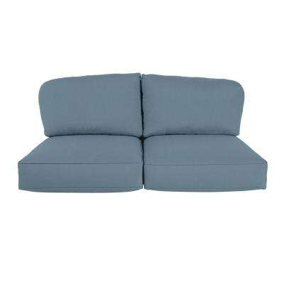 Northshore Replacement Outdoor Loveseat Cushion in Denim