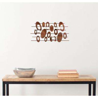 12.2 in. Votive Wall Decor in Burnt Copper