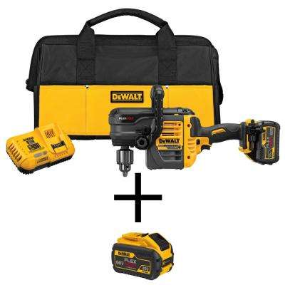 FLEXVOLT 60-Volt MAX Lithium-Ion Cordless Brushless 1/2 in. Stud and Joist Drill with Bonus FLEXVOLT Li-Ion Battery Pack
