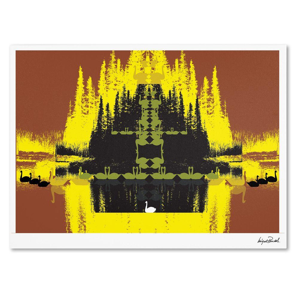 16 in. x 24 in. Yellow Trees Canvas Art
