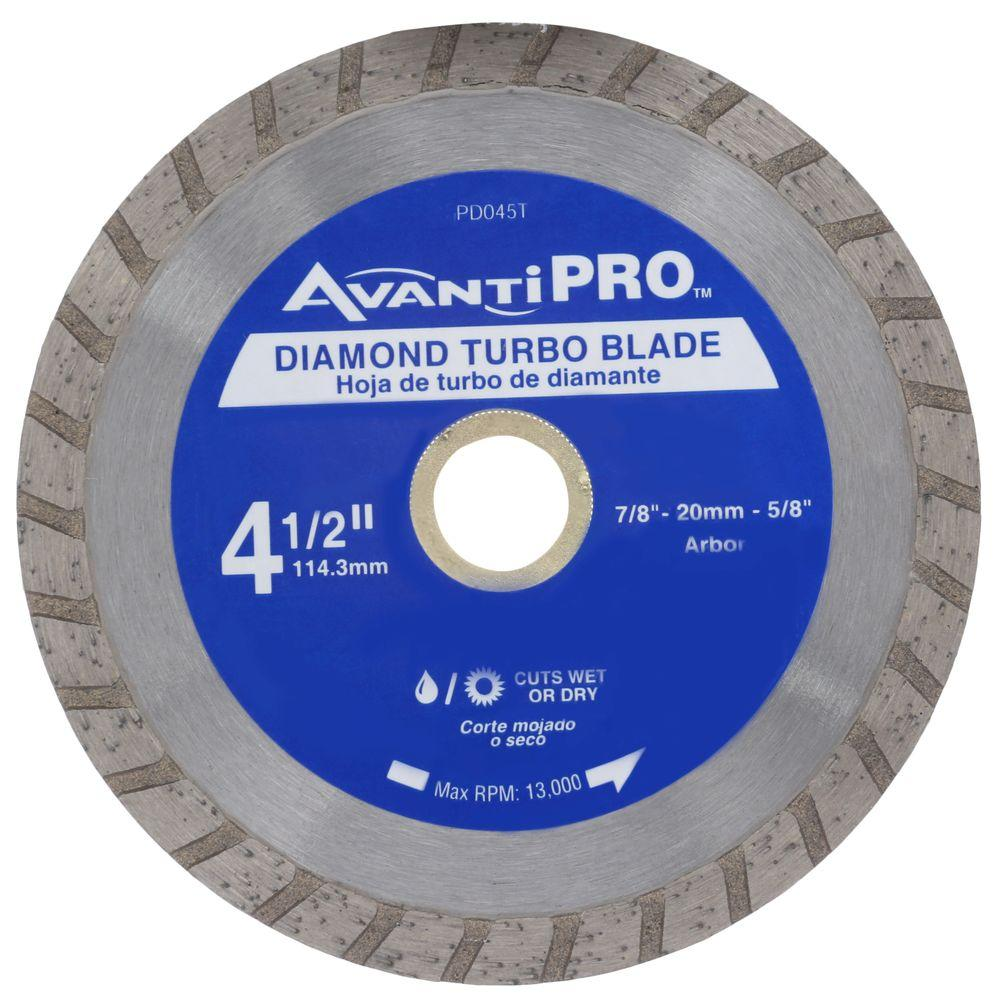Avanti Pro 4 1 2 In Turbo Diamond Blade Hd T45s8 The