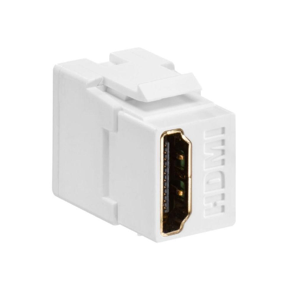 Leviton Feed Through Quickport Hdmi Wire Connector White 40834 W The Home Depot