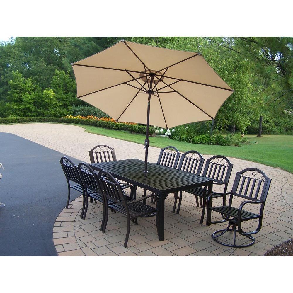 93e2da7b89f9 Oakland Living Rochester 9-Piece Patio Dining Set-6139-3830-6128 ...