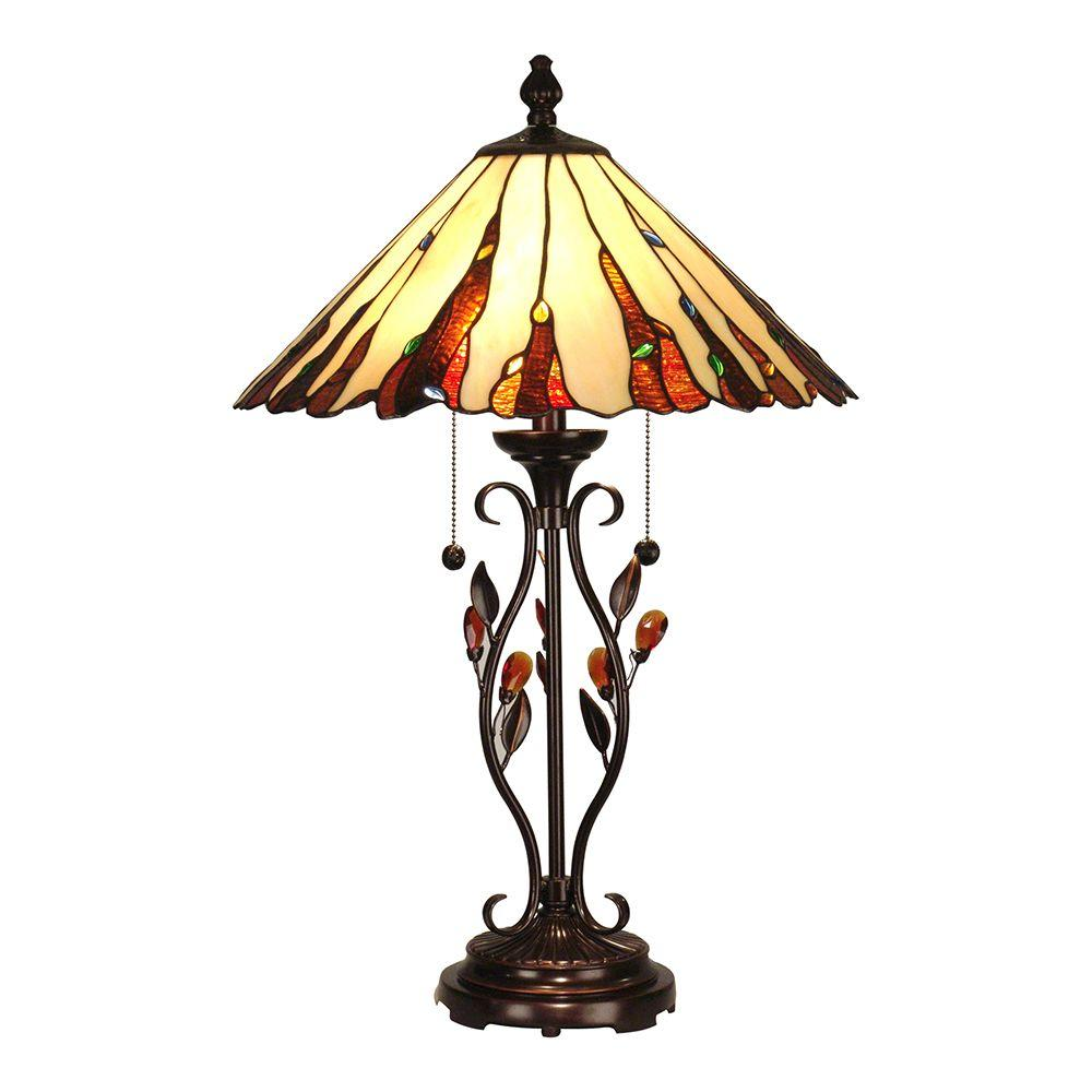 Dale Tiffany 27.5 in. Ripley Antique Golden Sand Table Lamp